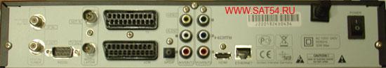 Цифровой ресивер GI-S890 CRCI HD Exellence. Задняя панель.