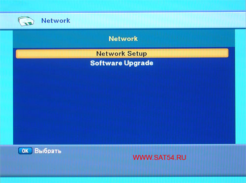 Цифровой ресивер GI-S890 CRCI HD Exellence. Сетевые настройки.