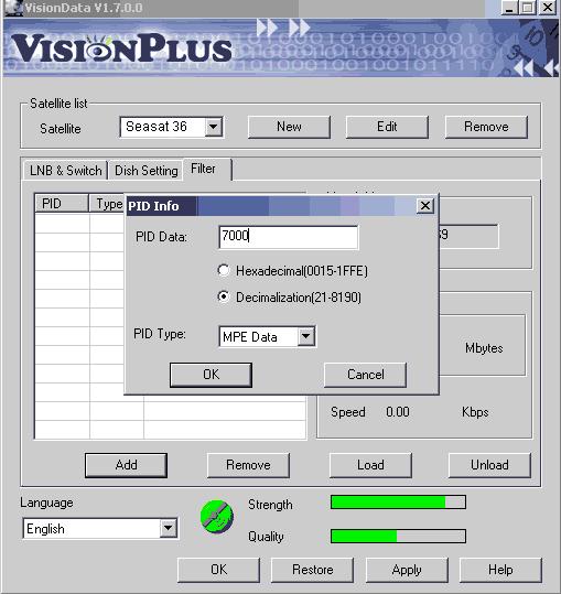 PCI DVB Карта Vision Plus. Установка и настройка к Интернет сервису провайдера Spacegate со спутника Seasat 36